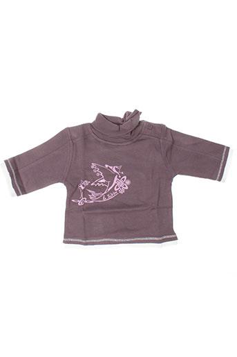 T-shirt manches longues violet LA TRIBBU pour fille