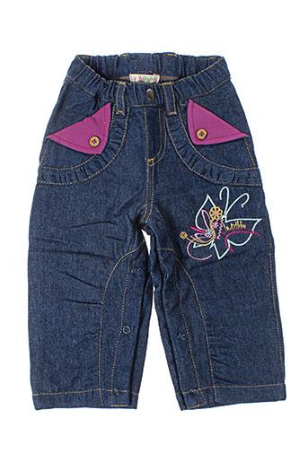 la tribbu jeans fille de couleur bleu