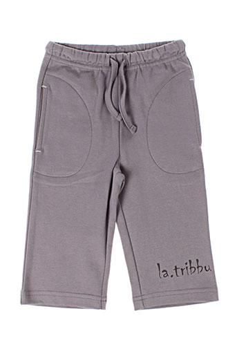 Pantalon casual gris LA TRIBBU pour fille