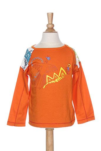 la tribbu t et shirts et tops garçon de couleur orange
