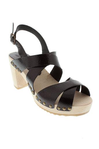 bosabo sandales et nu et pieds femme de couleur noir