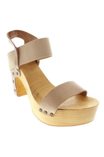antidoti sandales et nu et pieds femme de couleur beige