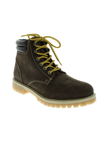 jack et jones boots homme de couleur marron