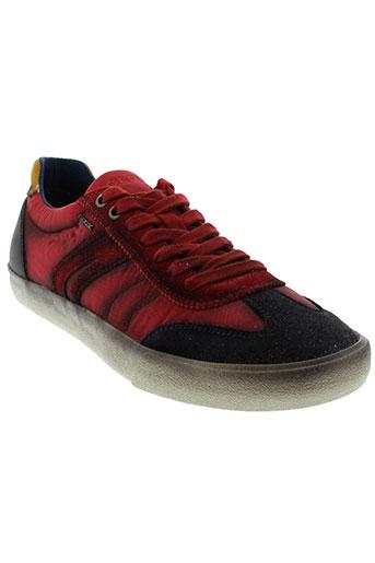 geox baskets homme de couleur rouge