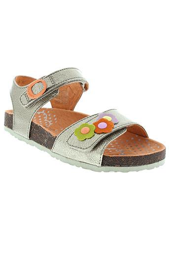 kickers chaussures fille de couleur orange