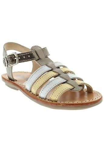 minibel chaussures fille de couleur marron
