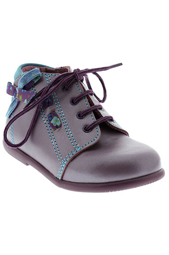minibel bottillons fille de couleur violet