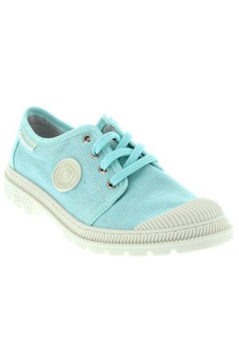 pataugas chaussures fille de couleur bleu