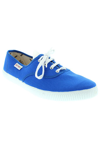 victoria baskets homme de couleur bleu