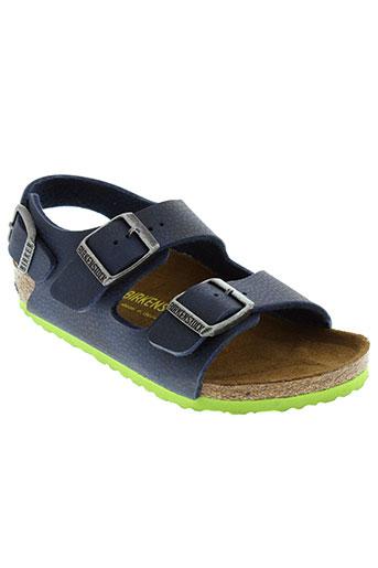 birkenstock chaussures garçon de couleur bleu