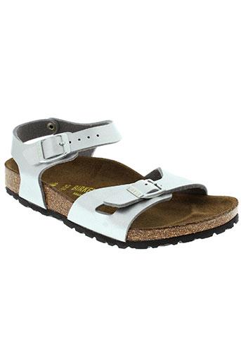 birkenstock chaussures fille de couleur gris