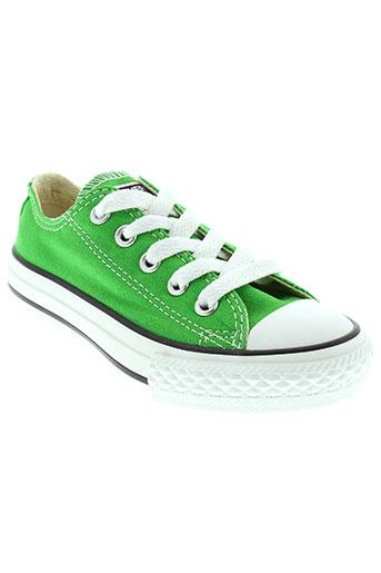 converse chaussures enfant de couleur vert