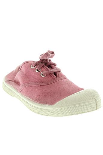 bensimon chaussures enfant de couleur rose