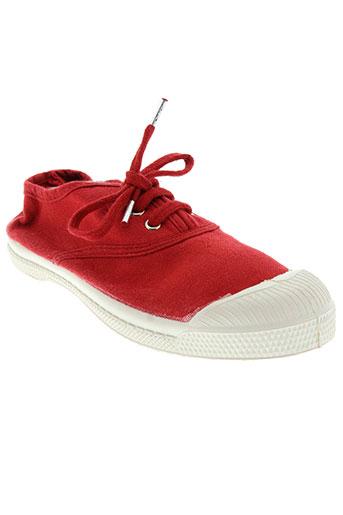 bensimon chaussures enfant de couleur rouge