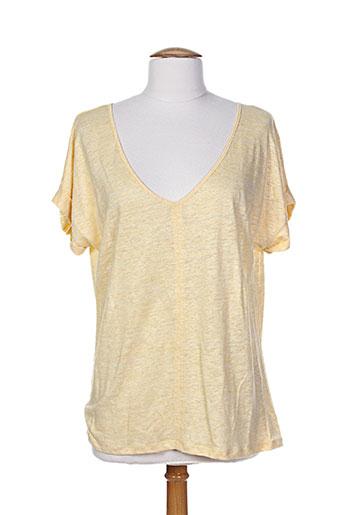 j.welly jeans t-shirts femme de couleur jaune