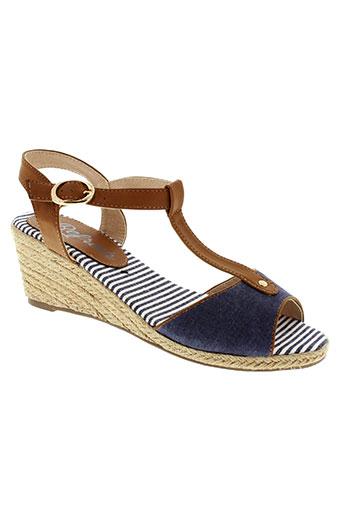 refresh sandales et nu et pieds femme de couleur bleu