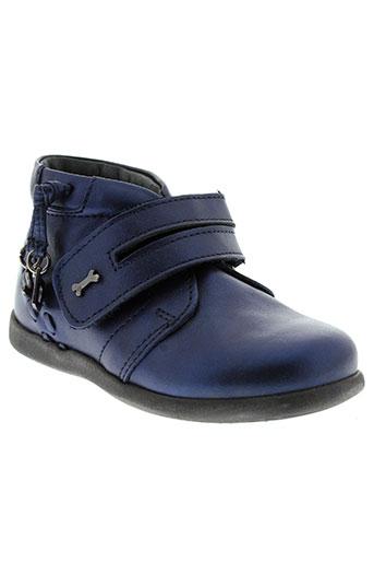 stones and bones chaussures fille de couleur bleu