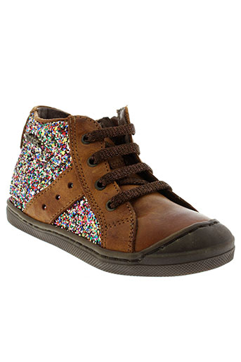 stones and bones chaussures fille de couleur marron