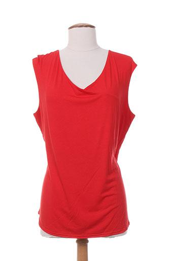 vango chemises femme de couleur rouge