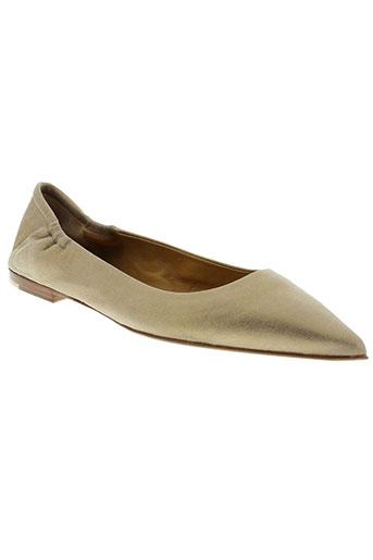 pomme d'or chaussures femme de couleur jaune