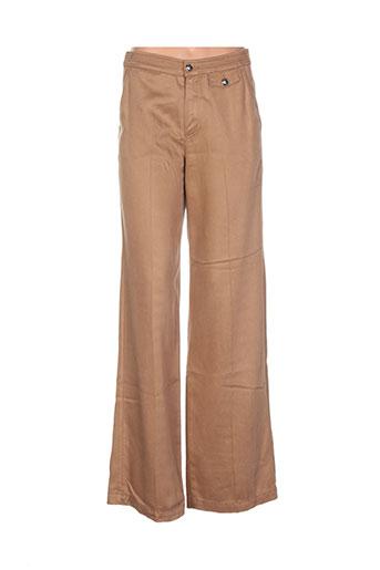 sisley pantalons femme de couleur marron