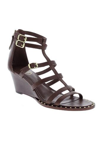 ash sandales et nu et pieds femme de couleur marron