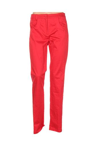 pier et be pantalons et decontractes femme de couleur rouge