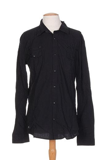 deeluxe chemises homme de couleur noir