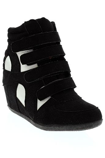 kenzara chaussures femme de couleur noir