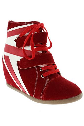 foli folio chaussures femme de couleur rouge