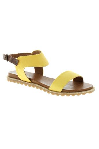 lune et l et autre sandales et nu et pieds femme de couleur jaune