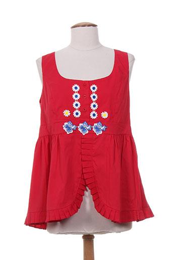 poupee chic chemises femme de couleur rouge