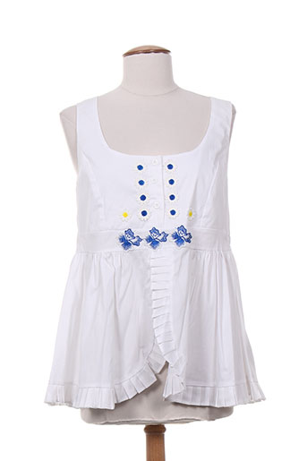 poupee chic chemises femme de couleur blanc