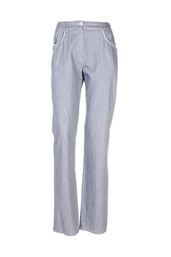 pause cafe pantalons femme de couleur gris