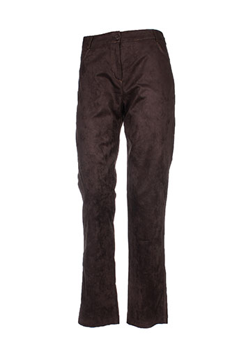 femmes je vous aime pantalons femme de couleur marron