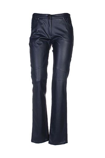 on parle de vous pantalons femme de couleur bleu