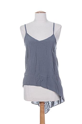 high chemises femme de couleur gris