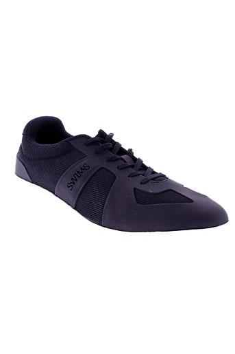 swims chaussures homme de couleur bleu
