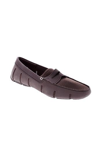 swims chaussures homme de couleur marron