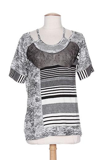 couleur d'ivoire t-shirts femme de couleur gris