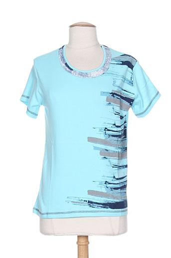 couleur d'ivoire t-shirts femme de couleur bleu