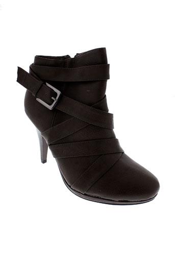 top et or boots femme de couleur marron