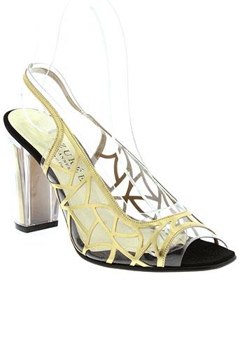 azuree sandales et nu et pieds femme de couleur jaune