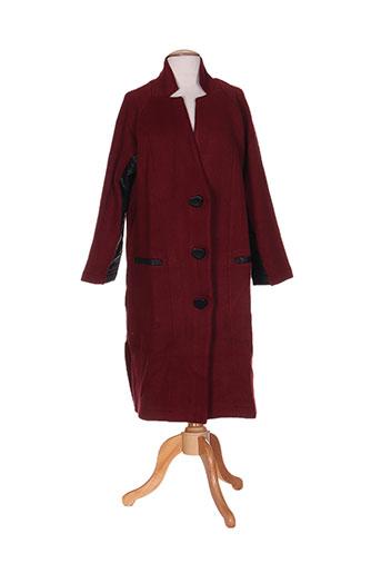taravao manteaux femme de couleur rouge