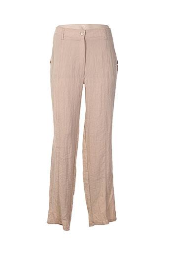 jean gabriel pantalons femme de couleur beige