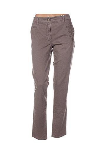 r95th pantalons femme de couleur marron