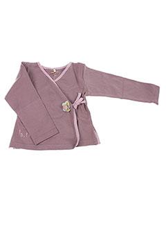 Gilet manches longues violet LA TRIBBU pour fille