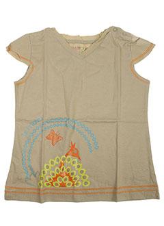 T-shirt manches courtes vert LA TRIBBU pour fille