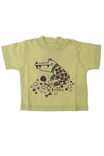 T-shirt manches courtes vert LA TRIBBU pour garçon