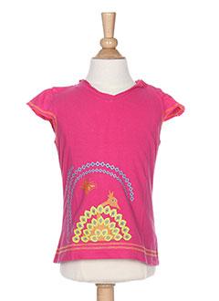 T-shirt manches courtes rose LA TRIBBU pour fille
